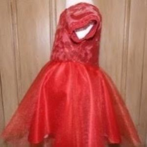 Red lace dress size 3t